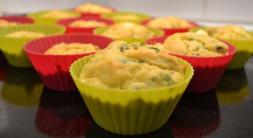 Recette de muffins salés feta et persil
