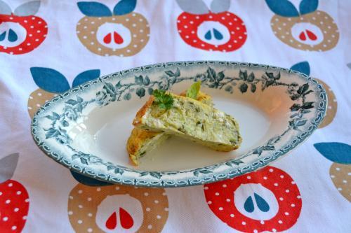 recette du cake de courgettes fonio feta basilic