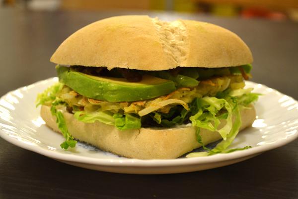 hamburger végétarien galette pomme de terre