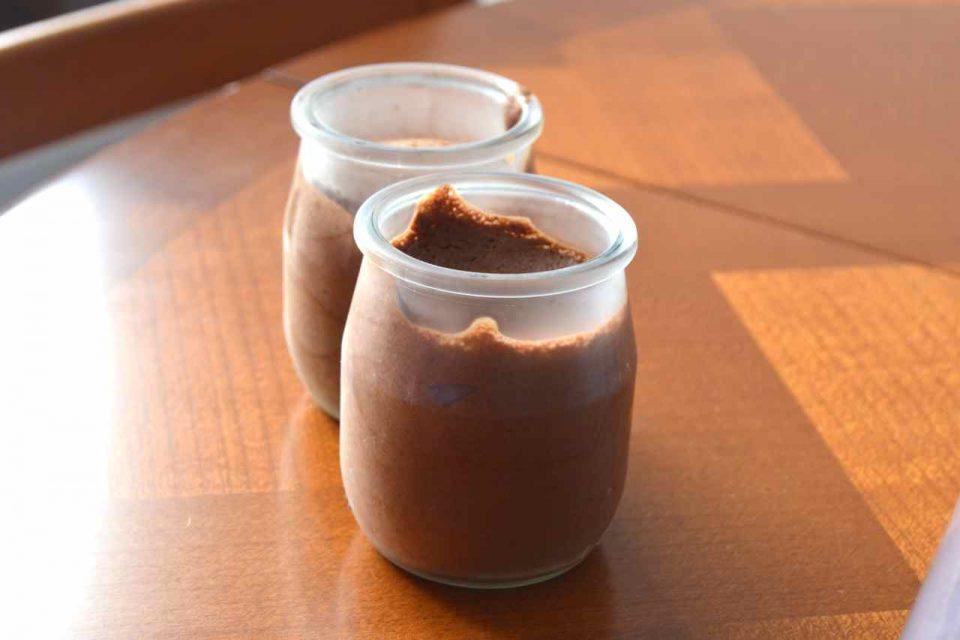 mousse au chocolat au jus de pois chiche